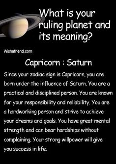 Find out your ruling planet and its meaning- Capricorn- Saturn