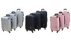 Groupon - Neo Eazy Three Piece Luggage Set in Choice of Colour for £75 With Free Delivery (38% Off) in [missing {{location}} value]. Groupon deal price: £75