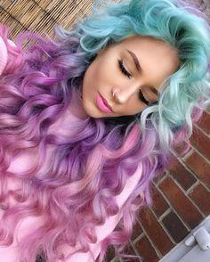 Цвета hair, hair color purple и purple hair. Pretty Hair Color, Beautiful Hair Color, Hair Color Purple, Hair Dye Colors, Color Blue, Colour, Pink Ombre Hair, Blue And Pink Hair, Curly Purple Hair