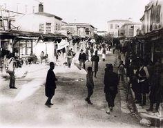 Kandiye one of the main street 1920 Heraklion Crete, Main Street, Street View, Crete Island, Simple Photo, Old Maps, Santorini, Time Travel, Athens