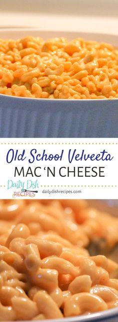 Velveeta Macaroni and Cheese Recipe - Creamy & Delicious! Creamy delicious Old School Velveeta Macaroni and…Edit description<br> Macroni And Cheese, Velveeta Macaroni And Cheese, Good Macaroni And Cheese Recipe, Velveeta Recipes, Macaroni Recipes, Mac Cheese Recipes, Best Pasta Recipes, Mac And Cheese Homemade, Kitchens
