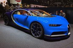 Mar 8th 2016 - Bugatti's new Chiron made its long-awaited debut in a very traditional French Racing Blue.   Covers pulled from Veyron successor: 1480bhp, €2.4m price tag, 261mph limited top speed. More at CAR magazine also video included in http://www.autoblog.com/2016/03/08/bugatti-chiron-colorizer-preview-official/