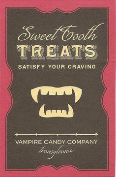 Halloween label for bottle or card