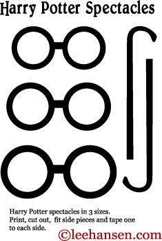 Printable Harry Potter Eyeglasses Craft Template