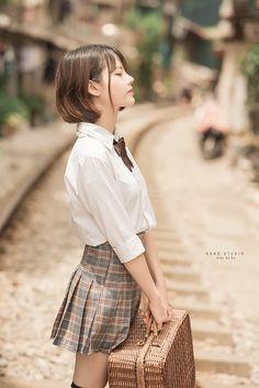 Cute Japanese Girl, Cute Korean Girl, Cute Asian Girls, Beautiful Asian Girls, Cute Girls, School Girl Japan, Japan Girl, Japan Japan, School Uniform Girls