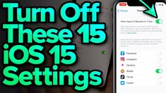 iOS 15 Settings You Need To Turn Off Now - YouTube Iphone Macbook, Iphone 8, Iphone Information, Iphone Secrets, U Tube, New Ios, Iphone Hacks, Turn Off, Facebook Instagram