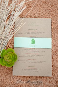 Las Vegas desert inspired wedding menu cards for an inspirational photo shoot in the Valley of Fire, Las Vegas, Nevada