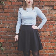 On the blog: my @grainlinestudio Lark tee and @seamworkmag Margo circle skirt with beautiful fabric from @fabricsgalorelondon and @fabriclandbristol. Link in profile. #basicbitch #dressmaking #sewing #sewcialists #sewingblogger #sewingvlogger #memade #larktee #seamworkmargogingerellajlarktee,sewing,sewingvlogger,basicbitch,memade,dressmaking,seamworkmargo,sewingblogger,sewcialists