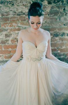 dreamy bridal sash