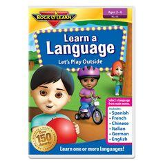 Rock N Learn Learn A Language Dvd Lets Play Outside