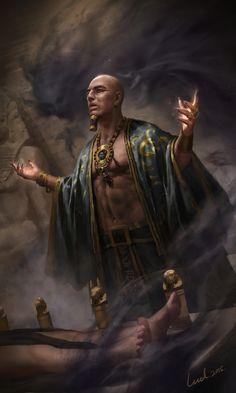 Clash Of Gods by Spellgun .Project works in CAH. Gothic Fantasy Art, Fantasy Rpg, Egyptian Mythology, Ancient Egyptian Art, Anubis, Prince Of Egypt, Egypt Art, Historical Art, Fantasy Inspiration