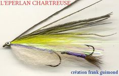 Éperlan Chatreuse Fly Tying Patterns, Streamers, Fly Fishing, Fishing, Salmon, Stuff Stuff, Paper Streamers, Camping Tips, Leis