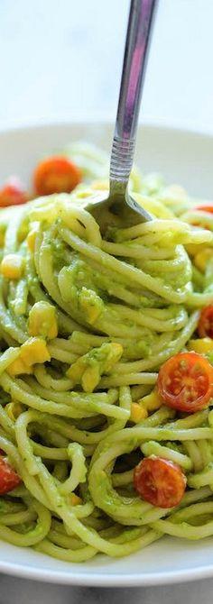 Avocado Pasta - Damn Delicious