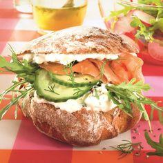 Zalmburger met feta & rucola #WeightWatchers #WWrecept #lunch