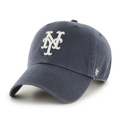 fc6ce0ad26ac4 New York Mets Clean Up Vintage Navy 47 Brand Adjustable Hat