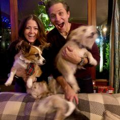 """Juliana Dever on Instagram: """"We tried. Merry Christmas from me, Seamus, Oliver, Blur #1 and Blur #2."""" Seamus Dever, Blur, Corgi, Merry Christmas, Photo And Video, Animals, Instagram, Merry Little Christmas, Corgis"""