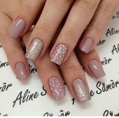 New nails art winter tutorial Ideas in 2019 Shellac Nails, Nude Nails, Nail Polish, Winter Nail Art, Winter Nails, Winter Art, Fall Nails, Spring Nails, Summer Nails