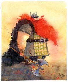 #viking #watercolor #illustration #AdilsonFarias