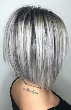 66 Chic Short Bob Hairstyles & Haircuts for Women in 2019 - Hairstyles Trends Medium Hair Cuts, Short Hair Cuts For Women, Medium Hair Styles, Curly Hair Styles, Messy Bob Hairstyles, Haircuts For Long Hair, Hairstyles Haircuts, Short Haircuts, Grey Haircuts