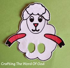 Sheep Puppet  Kids will love making the sheep puppet and reenacting Bible stories. You can even use the puppet to teach your lesson. This craft is very versatile and can be used for different Bible stories.