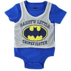 Batman Newborn Baby's Daddy's Little Crimefighter Onesie