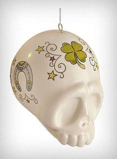 Rockabilly Tattooed Skull Ornament | PLASTICLAND