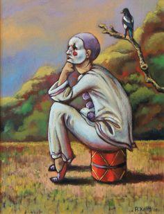 'Pierrot' by Antoinette Kelly 2003. www.artabus.com/antoinette/