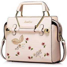 Pink Small PU Casual Satchel ($64) ❤ liked on Polyvore featuring bags, handbags, pink satchel bag, pink satchel, pink satchel purse, pink handbags and satchel style purse