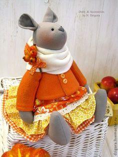 Игрушки животные, ручной работы. Ярмарка Мастеров - ручная работа Мышка Тыковка. Handmade.