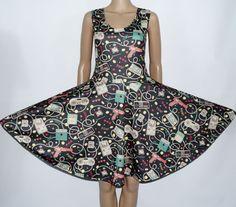 Gamer Skater Dress full pattern  Made to by NerdAlertCreations