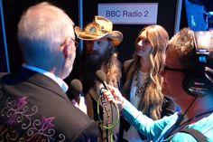 """Here's with CMA sweep winner & his wife Morgane Chris Stapleton, Concert, Gold, Image, Concerts, Festivals, Yellow"