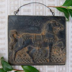 Prancing HORSE Cast Black BEESWAX Primitive Very by MagpieJane, $13.50
