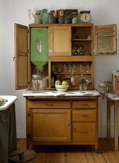 Antique Hutch with Flour Dispenser