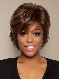 Curto penteados para cabelos grossos para americano africano