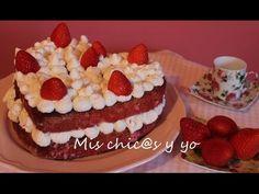 Tarta corazón de fresas y nata para celebrar San Valentín – Mis chic@s y yo