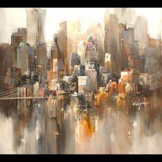Tableau de New York - AUTOUR D'UN CADRE - Encadrement - Peinture - Restauration