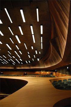 Nuovo Auditorium Di Firenze - Picture gallery - Akustik ve Ses Yalıtımı Acoustic Architecture, Theatre Architecture, Urban Architecture, Space Architecture, Amazing Architecture, Contemporary Architecture, Architecture Details, Auditorium Design, Santiago Calatrava