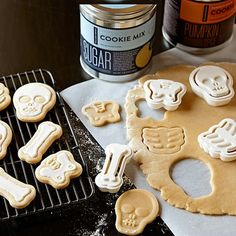 Halloween Skeleton Cookie Cutters, Set of 4