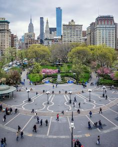 """Union square NYC -- This place should have a sign that says """"Beware of protests""""."""
