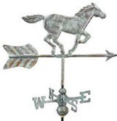 Weathervane - Horse - Copper w/Mount - Weathervane & Cupola Shop