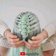 Classic Hairstyles, Elegant Hairstyles, Pretty Hairstyles, Hair Tutorials For Medium Hair, Medium Hair Styles, Long Hair Styles, Braided Ponytail Hairstyles, Headband Hairstyles, Hair Style Vedio