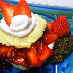 Cannabis Strawberry and Kiwi Shortcake Weed Recipes, Marijuana Recipes, Cannabis Edibles, Cooking With Marijuana, Hemp Recipe, Incredible Edibles, Strawberry Kiwi, Strawberry Shortcake, Ganja