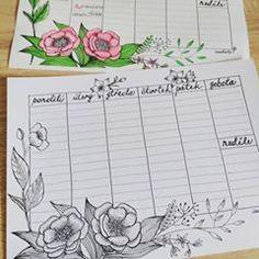 Kreslicí výzva1/30 Týdenní rozvrh ke stažení i pro Tebe. www.ivetule.cz Původní fotka se mi někam zatoulala. 😑 #handdrawflowers #handdrawn #drawing2me #drawing #weeklyschedule Bullet Journal, Drawing, Paper, Projects, Instagram, Log Projects, Blue Prints, Sketches, Drawings