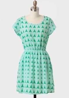 Chancay Triangle Print Dress