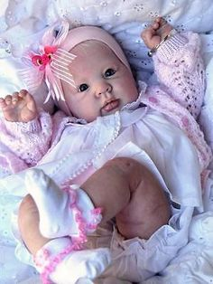 """REBORN Doll peach """"CRYSTAL"""" kit by Donna Rubert, FULL arms and 3/4 legs, lovely!"""