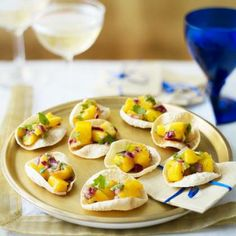 These Indian style poppadom scoops are a great way to get your dinner party started!