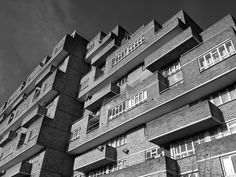Dawson's Heights, East Dulwich, London, Kate Macintosh, London Borough of Southwark's Architecture Department, 1964-1972 Photo: Simon Phipps British Architecture, Tower Block, Brutalist, Luxury Apartments, Facades, Public, London, Building, Places