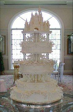 Disney themed princess wedding cakes ornate elaborate unusual