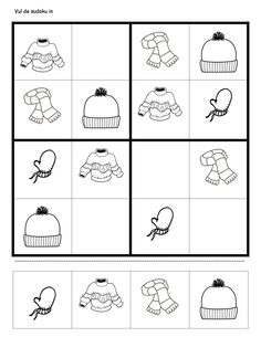 Aynı farklı benzer werkblaadje sudoku winterkleding Christmas Worksheets, Christmas Activities For Kids, Kindergarten Math Worksheets, School Worksheets, Infant Activities, Preschool Activities, Teaching Kids, Kids Learning, Kids English