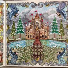 Johanna Basford Secret Garden Book, Secret Garden Coloring Book, Coloring Book Art, Colouring Pages, Adult Coloring, Enchanted Forest Book, Enchanted Forest Coloring Book, Zentangle, Johanna Basford Secret Garden